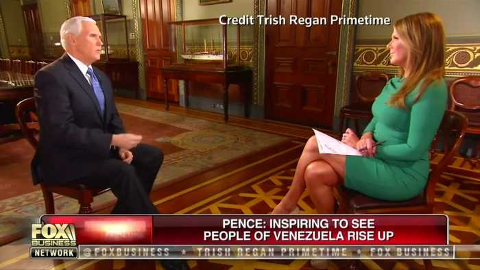 Pence: 'We hope Maduro will accept a peaceful transition of power'