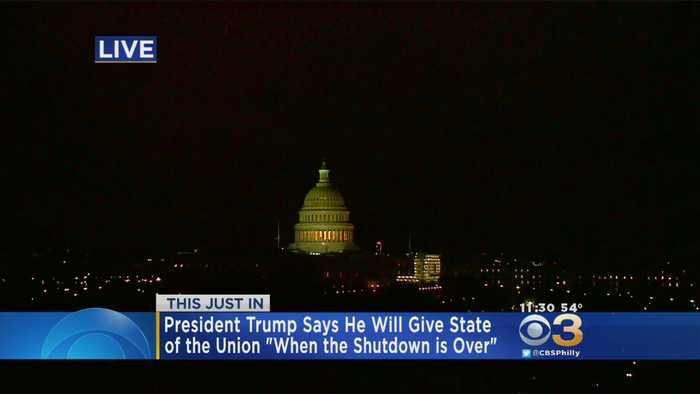 President Trump Says He'll Deliver State Of The Union When Shutdown Is Over