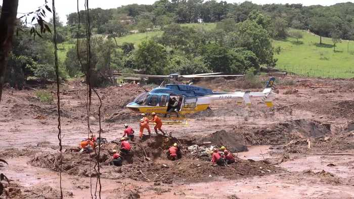 Death toll from Brazil dam collapse rises to 99 with hundreds still missing