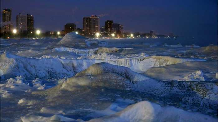 U.S. Midwest Gripped In Record Breaking Deep Freeze