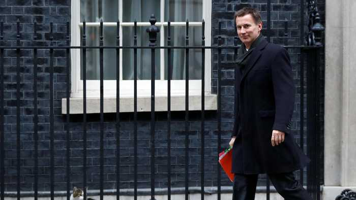 Jeremy Hunt First Cabinet Minister To Talk Brexit Delay