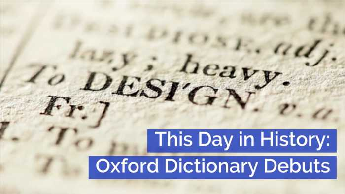 The Oxford Dictionary Began: This Day In History
