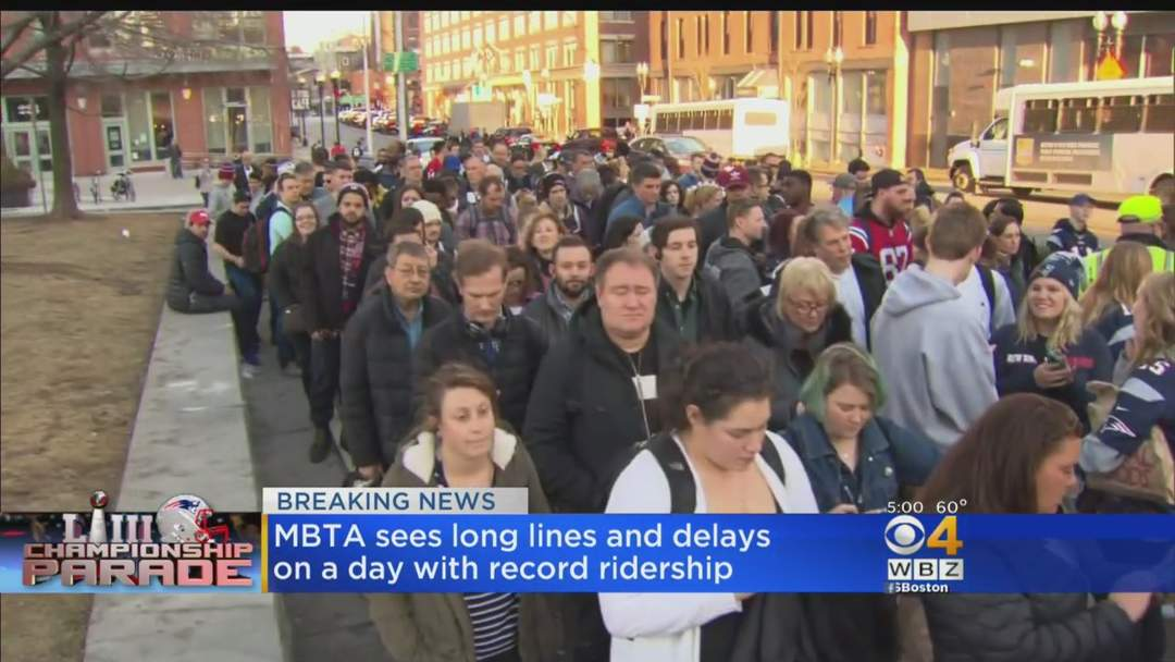 Commuter Chaos After Patriots Parade