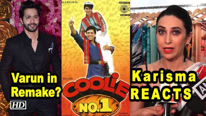 Will Varun star in 'COOLIE NO. 1' Remake? Karisma Kapoor REACTS