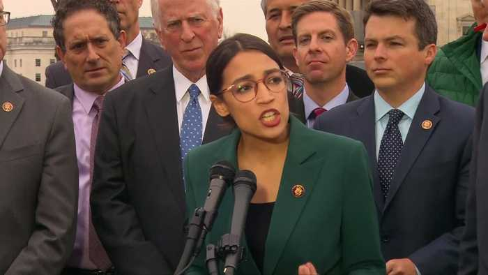 Ocasio-Cortez touts 'Green New Deal' for clean energy