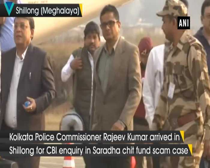 Kolkata Police Commissioner Rajeev Kumar arrives in Shillong for CBI enquiry
