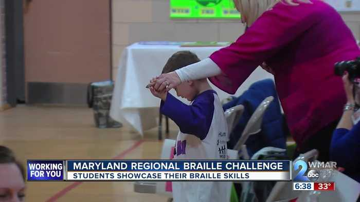Visually impaired school students showcase their skills in Regional Braille Challenge