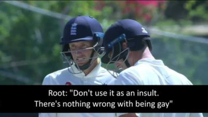 Joe Root praised for gay comments in England test match