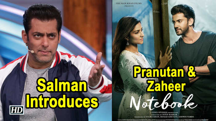 Salman Introduces Debutants Pranutan & Zaheer's 'NOTEBOOK'