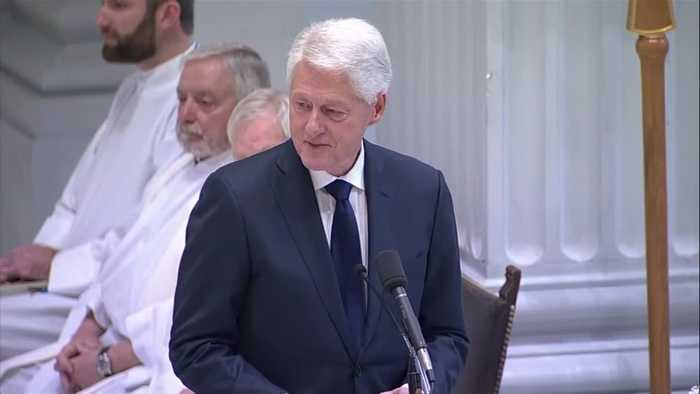 Former President Bill Clinton remembers John Dingell during Washington D.C. service