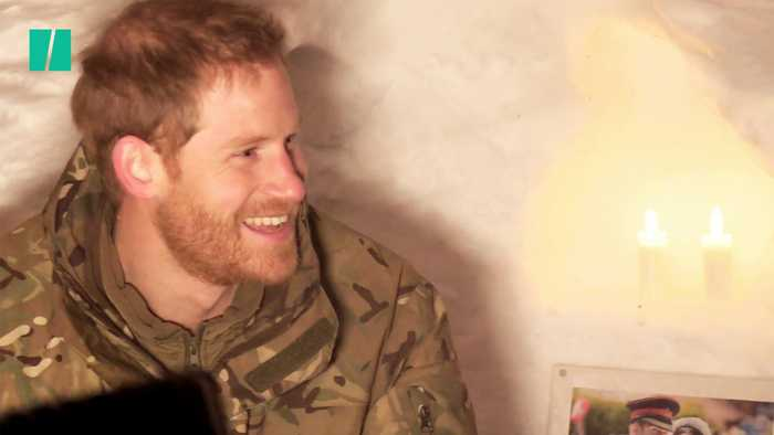 Prince Harry Crawls Into An Igloo In Norway