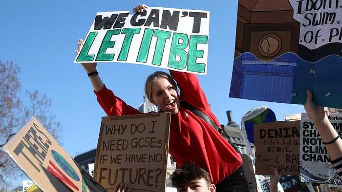 Youth Strike 4 Climate: Thousands of UK students march for the planet