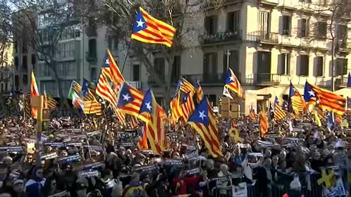 Massive Catalan independence rally in Barcelona
