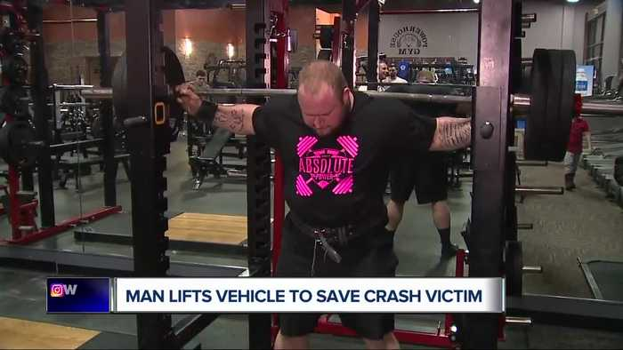 Local powerlifter lifts vehicle off man trapped underneath after accident