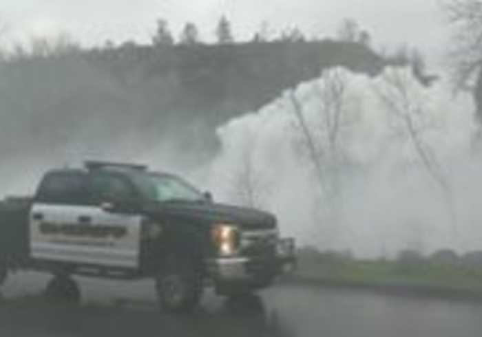 Napa Valley Spillway Turns Into Wall of Water Following Heavy Rainfall