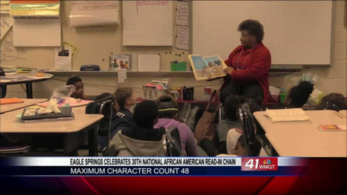 Eagle Springs Elementary school celebrates 30th National African American Read-in Chain