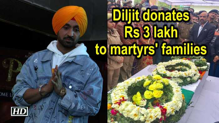 Diljit Dosanjh donates Rs 300,000 to martyrs' families