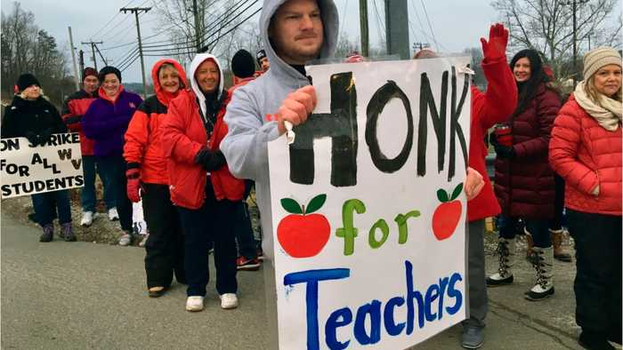 West Virginia Teacher Strike Moves To Day 2