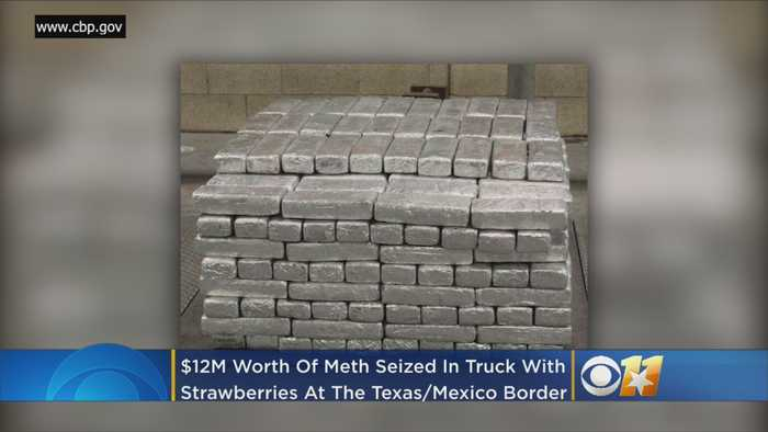 Border Agents Stop Truck Carrying Frozen Strawberries, Find Over $12M Worth Of Meth