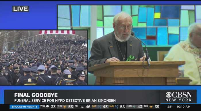 Funeral Service For NYPD Detective Brian Simonsen, Part 1