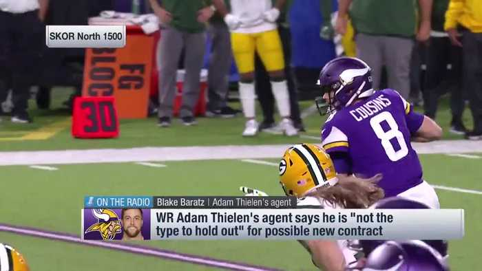 Mike Garafolo: Minnesota Vikings have leverage in extension talks with wide receiver Adam Thielen