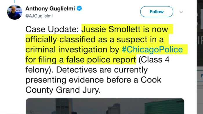 Smollett now a suspect in his report of hate crime