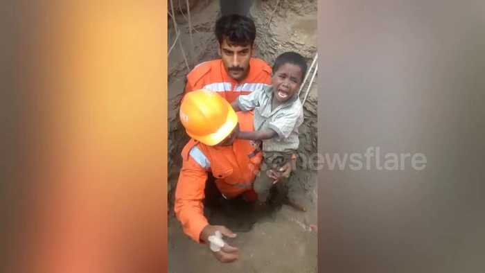 Indian boy rescued from 200-ft well after 16-hour ordeal