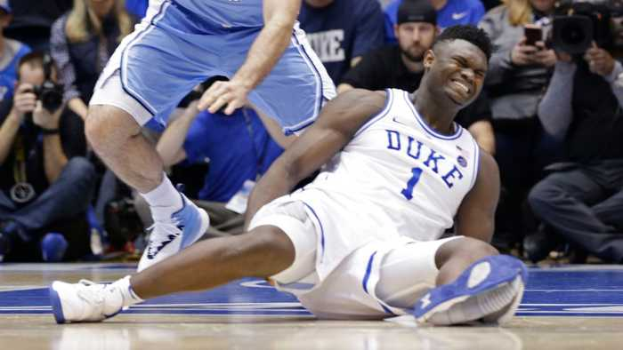Nike Shares Slip After College Basketball Star's Sneaker Rips