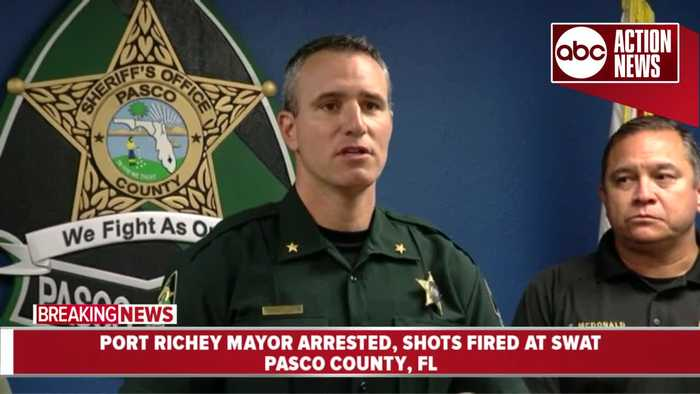 Port Richey Mayor arrested after shots fired at SWAT | Pasco New Conference