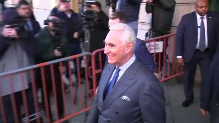 Stone leaves court with new gag order for IG post