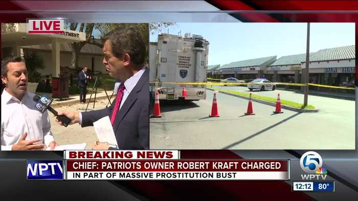 Jupiter police says Patriots owner Robert Kraft at spa on at least 2 separate occasions