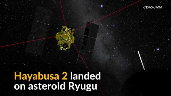 Japanese spacecraft lands on asteroid Ryugu