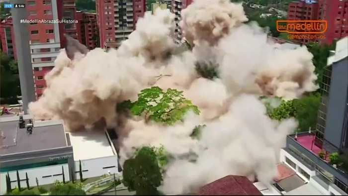 Colombia demolishes drug kingpin Pablo Escobar's former home