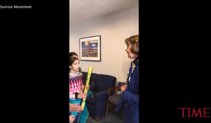 "Sen. Feinstein Criticized for ""Smugness"" and ""Disrespect"" When Meeting Kids Who Support Green New Deal"