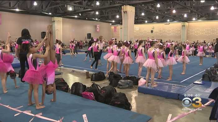Gymnasts Unite At Pennsylvania Convention Center For Pink Invitational