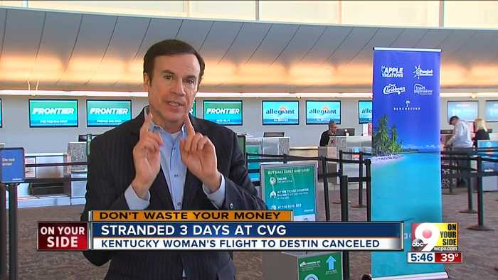 Woman Stranded at CVG
