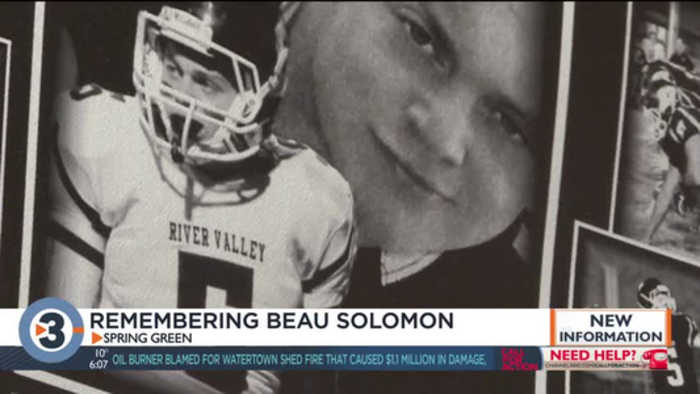 'I think about him daily': River Valley High School keeps Beau Solomon's memory alive