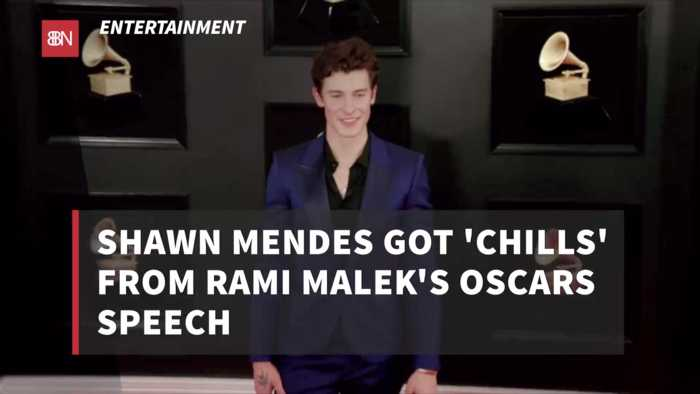 Shawn Mendes Was Blown Away By Rami Malek Oscar Speech