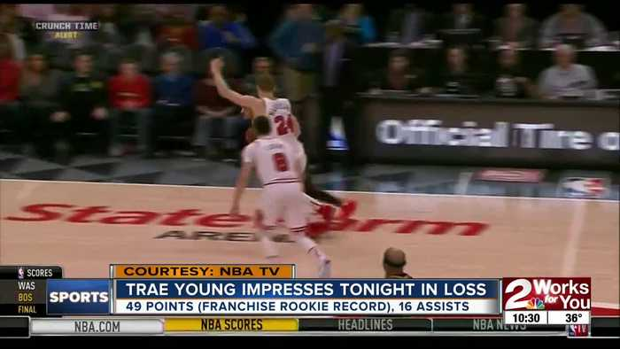 Trae Young Scores 49 Points, Breaks Franchise Rookie Record