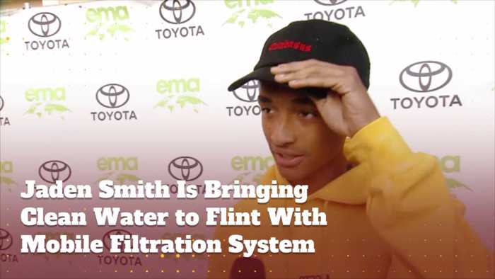 Jaden Smith Is Dedicated To Helping Flint Michigan