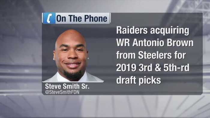 NFL Network's Steve Smith Sr. reacts to Oakland Raiders wide receiver Antonio Brown, free agent running back Le'Veon Bell leavin