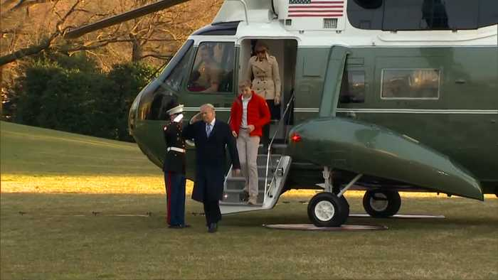 Trump and family return to WH from Mar-a-Lago