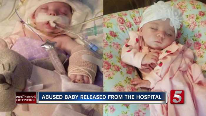 Baby Addilyn released from hospital nearly two months after beating