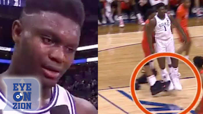 Zion Williamson TRIPPED By Syracuse Player Frank Howard Who Denies The WHOLE Thing
