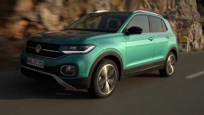 Volkswagen T-Cross in Makena Turquoise Driving Video
