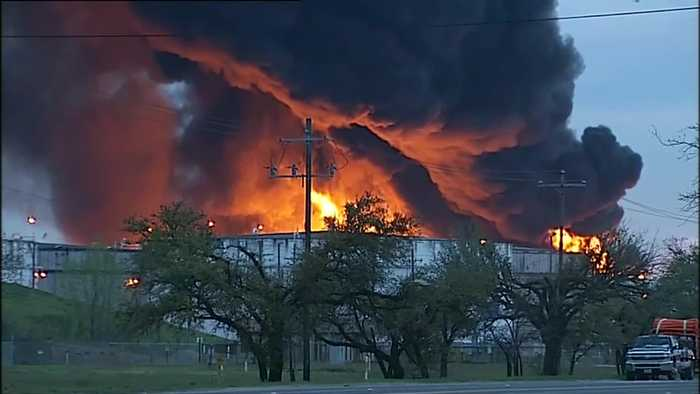 Fire continues to rage at Houston-area plant
