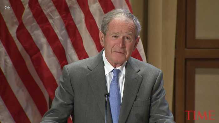 'Immigration Is a Blessing.' George W. Bush Welcomes New U.S. Citizens in Naturalization Ceremony