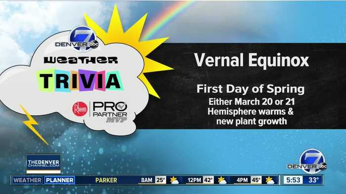 Weather trivia on March 18: What's the first day of spring called?