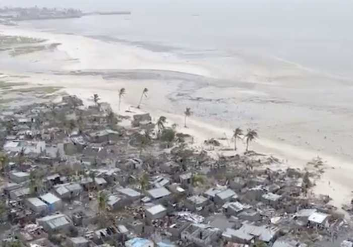 Drone Footage Shows Mozambique Neighborhood Devastated by Cyclone Idai