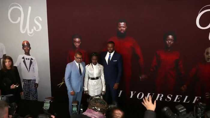 Jordan Peele, Lupita Nyong'o and the cast of